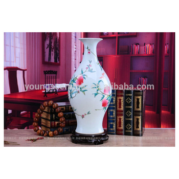 Antique Reproduction Chinese Famille Rose Porcelain Peach Vases Qing