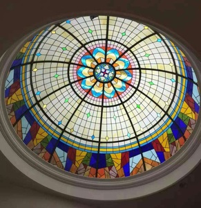 Tiffany style decorative stained glass for ceiling dome