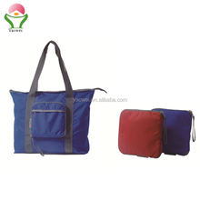 New Fashion high quality Recycle printing nylon folding shopping bags foldable tote bag