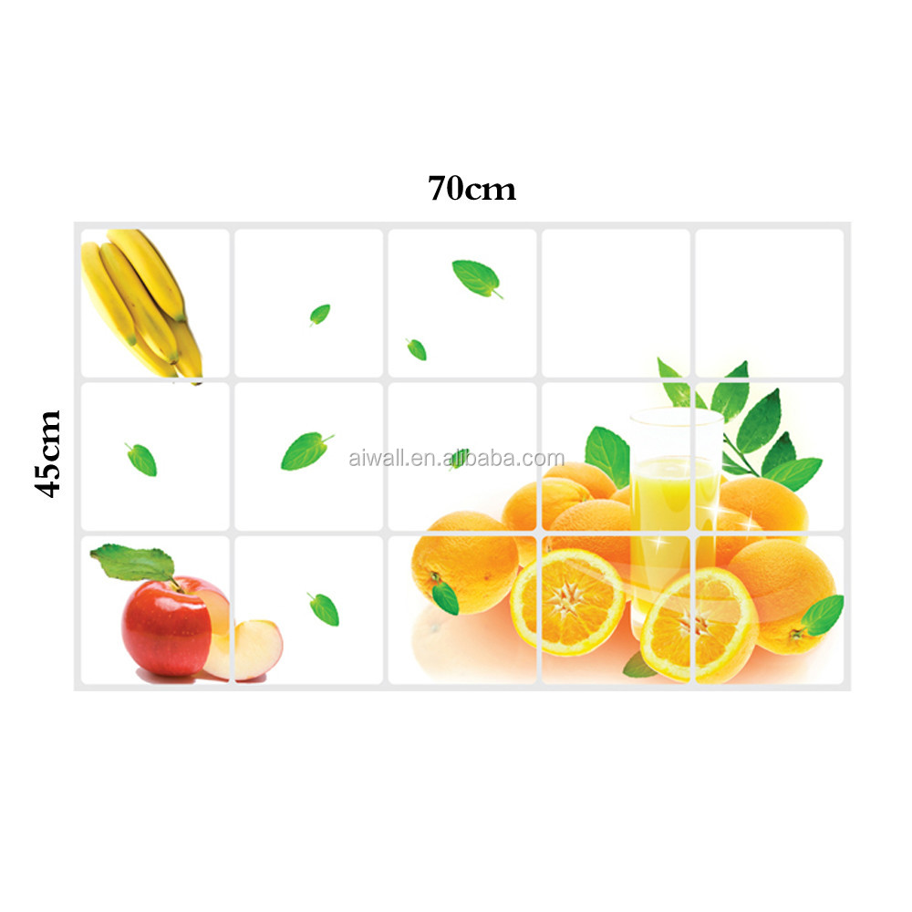 Kitchen Tiles Fruits Vegetables: 3023 Fruit / Vegetables Pattern Tile Anti-oil Kitchen