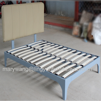 Metal Wood Case In Plywood Iron Slats Material And Bedroom Furniture Type