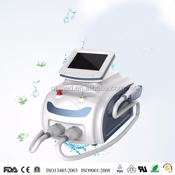 Okmed 2017 Alibaba best SHR/ IPL/Q switch laser haire moval, skin rejuvenation, pigment removal beauty equipment