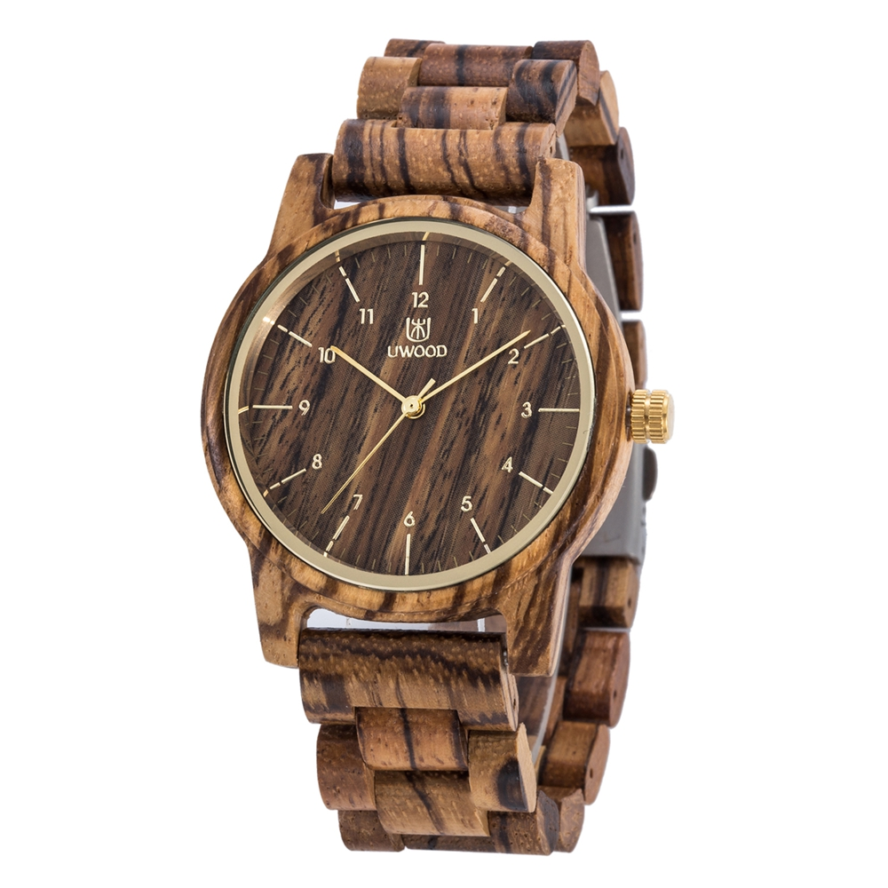 UW08 UWOOD Retro Wood Style Watches for <strong>Man</strong> Casual Wooden <strong>Men's</strong> Quartz Wristwatch
