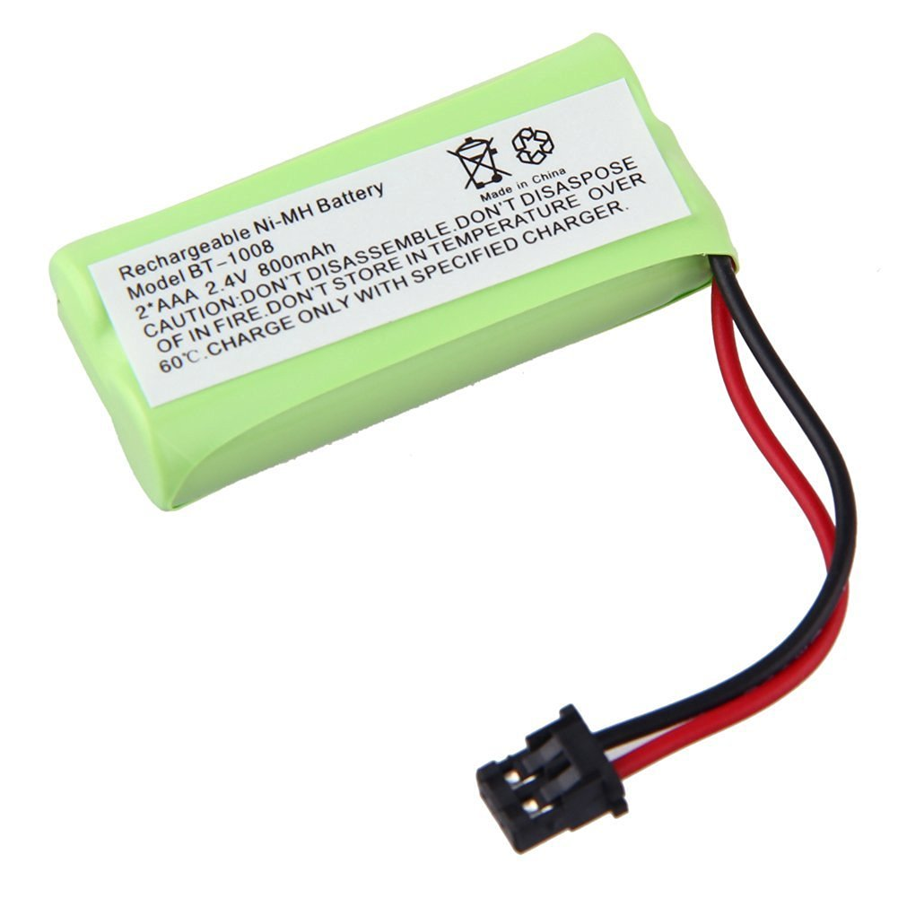 CREERACITY Cordless Phone Battery 2.4 Volt, Ni-MH 800mAh - Replacement For UNIDEN BT-1008, BT-1016 Uniden BT1021 Uniden BBTG0645001 Uniden DCX200, DECT 2060 BT-1008 BT-1008S, BT1008S, BT-1016, BT1016 WITH43-269 BBTG0645001, BBTG0734001 Compatible for Uniden BT-1008 BT1008 BT-1008S BT1008S BT-1016