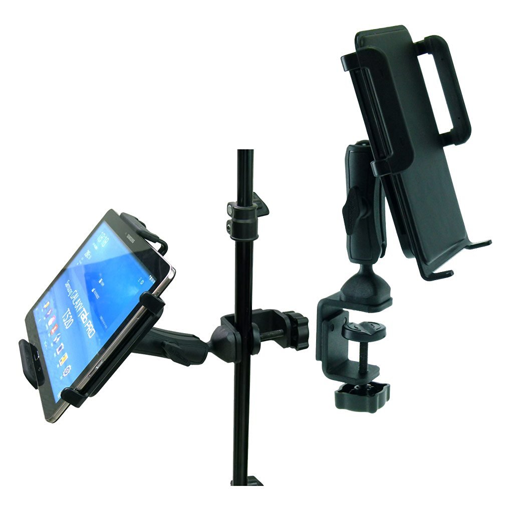 BuyBits Heavy Duty Adjustable C-Clamp Music Stand / Counter Top Mount for Samsung Galaxy Tab Pro (10.1)