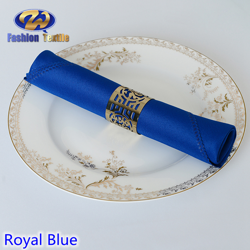 Customized navy blue cloth table napkins cotton