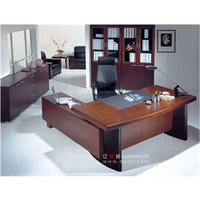 Comfortable wooden office table design used in CEO office