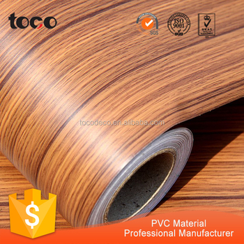 Self Adhesive Wood Grain Vinyl Sheet For Cabinet Cover Engineer Pvc Flooring