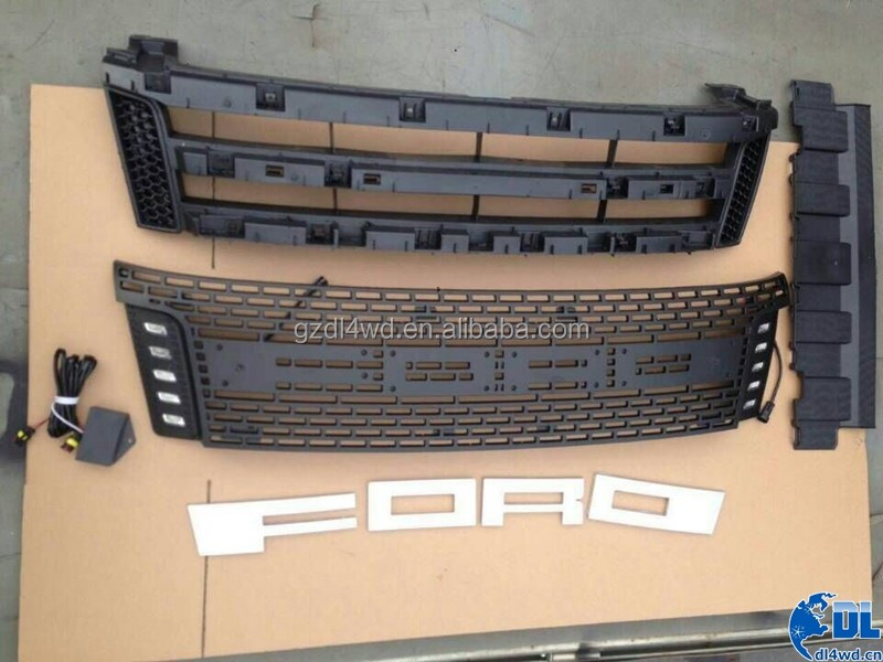 grille guard for ford ranger t6 grill custom car front grills with drl led