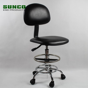 Laboratory ESD Chair with Anti Static PU Leather and Conductive Chain
