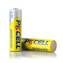 High capacity aa2000 mah rechargeable aa 1.2v ni-mh battery
