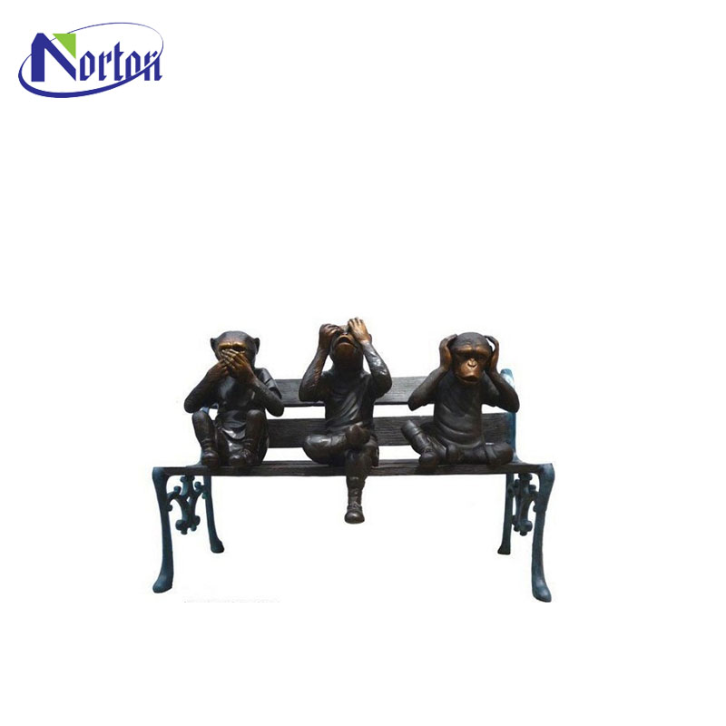 Surprising Garden Outdoor Bronze 3 Monkeys On Bench Statue Nt Em 006 Buy Brass Monkey Sculpture Large Bronze Monkey Sculpture Bronze Monkey Statue Product On Pabps2019 Chair Design Images Pabps2019Com