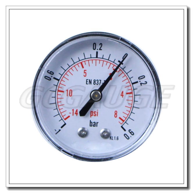 High Pressure Vacuum Gauge : High quality black steel back connection low pressure