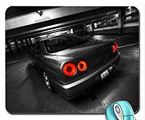 Art black and white skylines lights cars monochrome vehicles supercars selective coloring garages sports mouse pad computer mousepad
