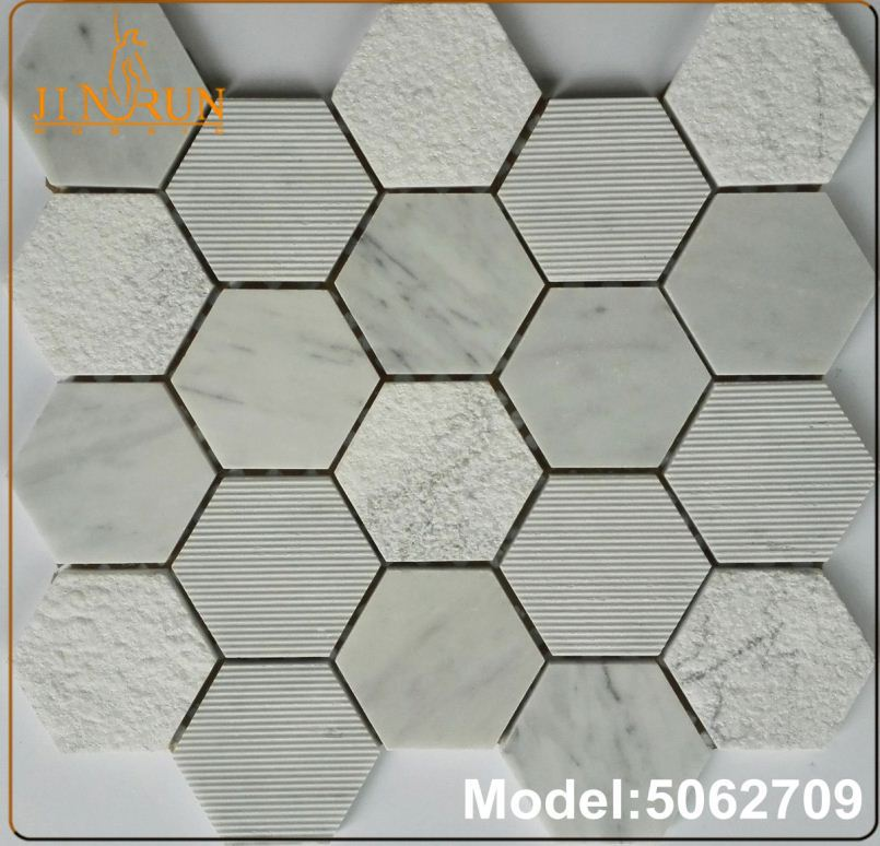 Greek art marble mosaic tile