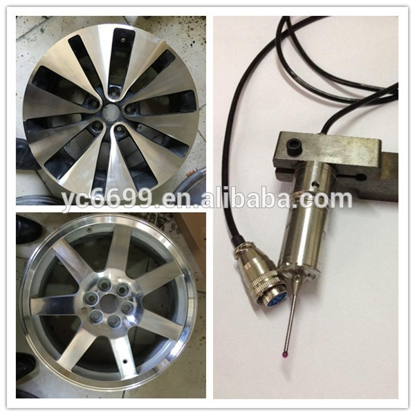 Diamond cut mesin roda alloy wheel perbaikan CK6260