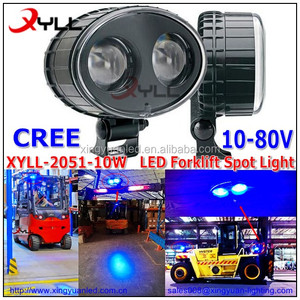 12V 80V DC Blue LED Forklift spot light 10W work light 10-80V