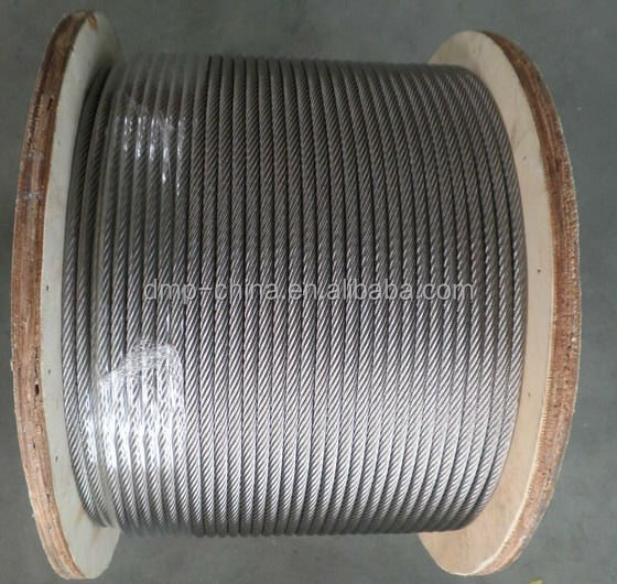 4.0mm Hot dipped galvanized steel wire rope 6x19+IWS / 7X19