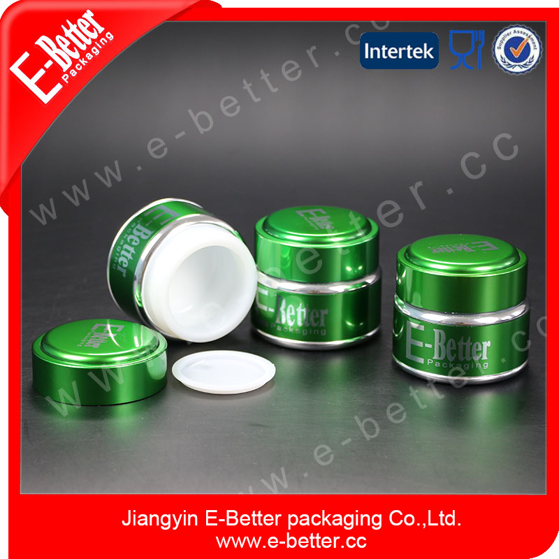 hot sale green 30g aluminum cosmetic containers for eye cream