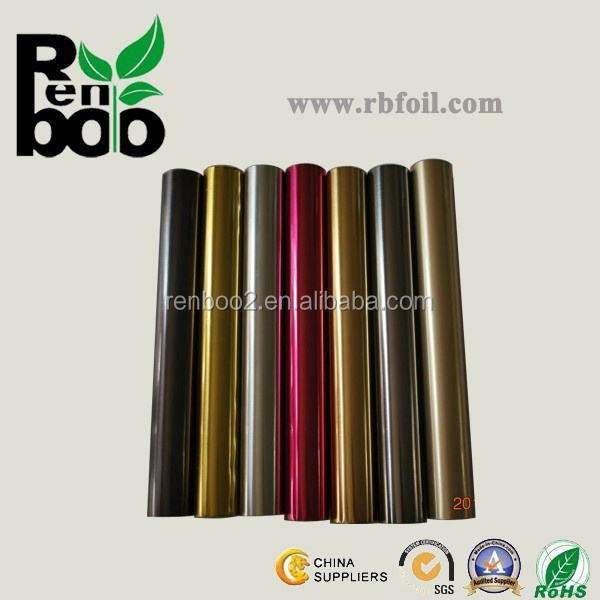 Hot stamping foil roll for paper and plastic printing