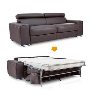 Design Sofa Brown Leather Quality German Modern Best Folding Bed vNn0m8w