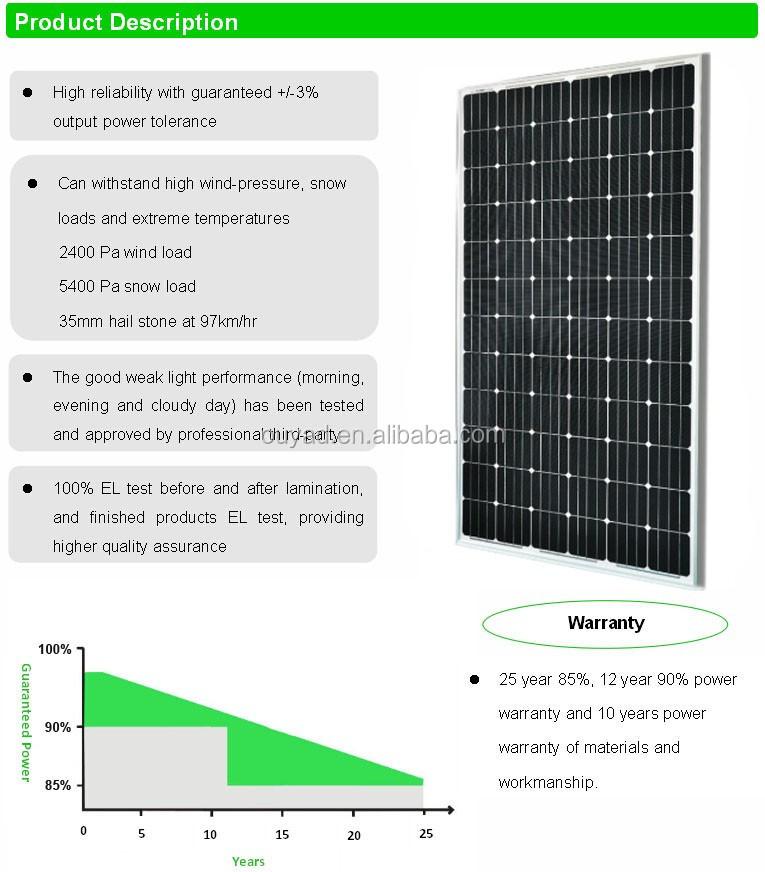 2017 High Efficiency 1956 992 40mm 72pcs Solar Cell 330w
