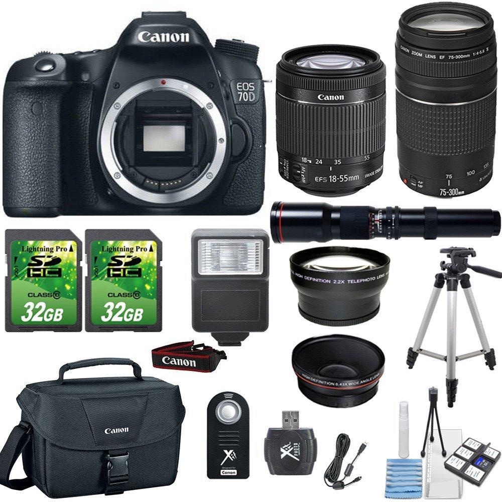 500mm f/8.0 Preset Lens EF 50mm f/1.8 STM Lens Canon EOS 90D DSLR ...