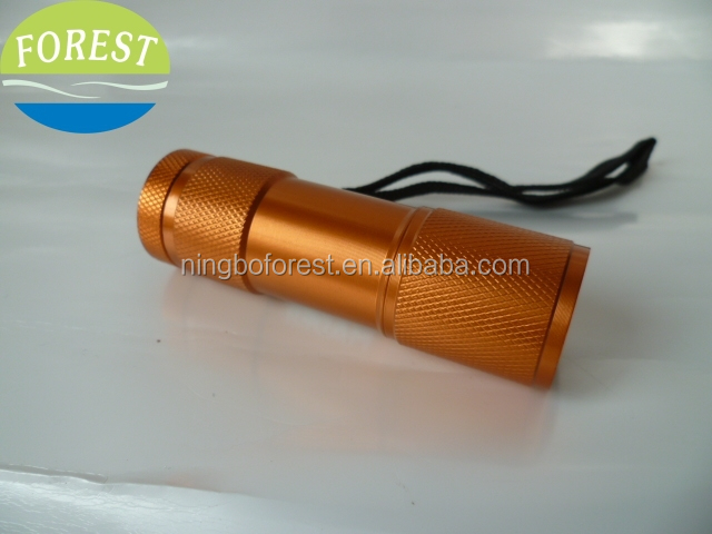 9 led aluminum torch,led flashlight torch,led torch