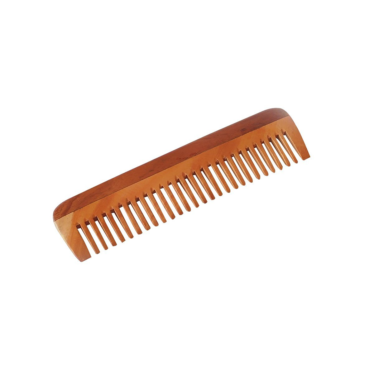 """HealthAndYoga(TM) Handcrafted Neem Wood Comb - Anti Dandruff, Non-Static and Eco-friendly- Great for Scalp and Hair health -7"""" Wide toothed"""