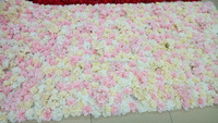 New silk rose flower wall for wedding decoration in good price
