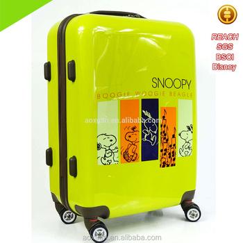 Best Luggage Brands Oem Printed Lady Beautiful Snoopy Trolley ...
