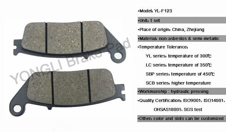мотоцикл тормозных колодок для Kymco запасных частей тормозных
