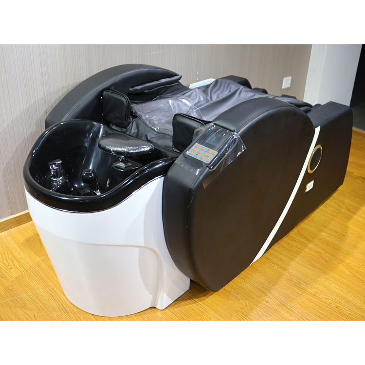 Shampoo chair with massage/Comfortable 3D Beauty Salon shampoo bed massage