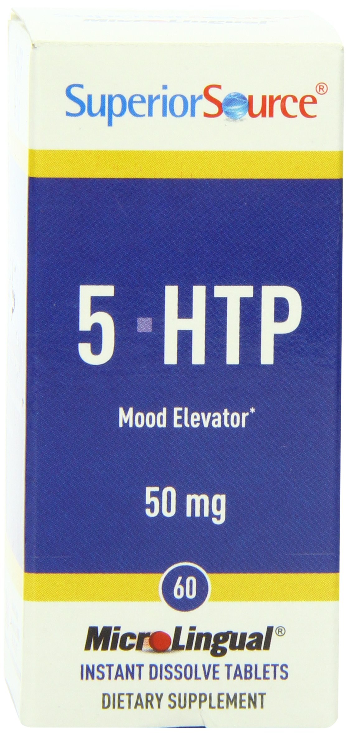 Superior Source 5-HTP Nutritional Supplements, 50 mg, 60 Count