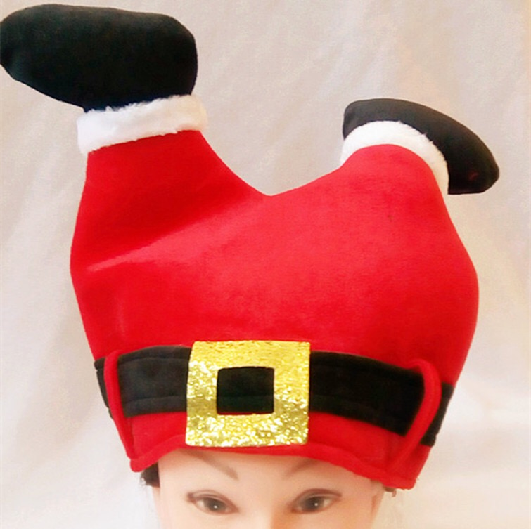 1pc Christmas Hat Red Santa Claus Pants Hats for Adult and Children Decoration for 2017 New Year's Gifts Home Party