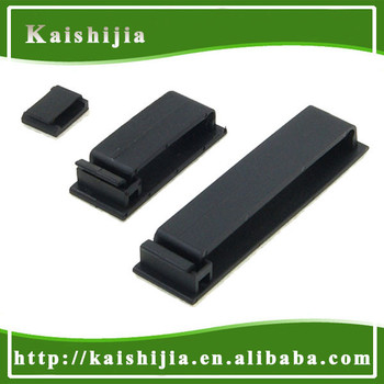 High Quality Black Mounting Flat Pole Wire Cable Clamp - Buy Pole ...