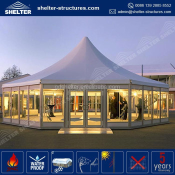 Factory price hexagonal gazebo metal high point tents for events and party high quality wedding tent : highpoint tent - memphite.com