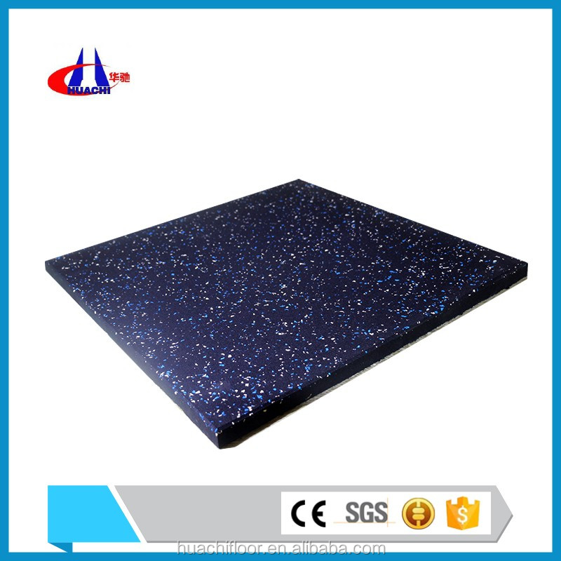 Recycled rubber granules material of covers for gym mats