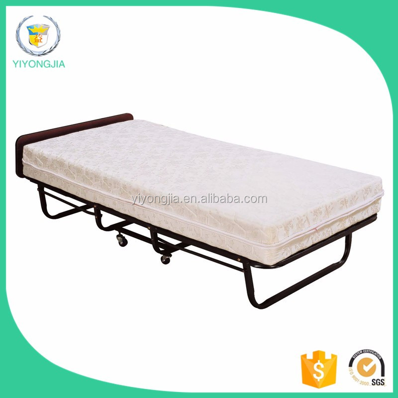 Resorts Metal Foldable Guest Room Hotel Rolling Bed/Folding Rollaway Bed