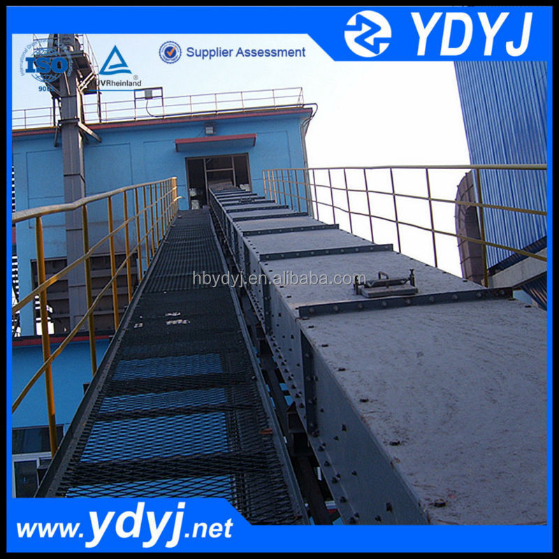 High durability depollution chute scraper chain conveyor