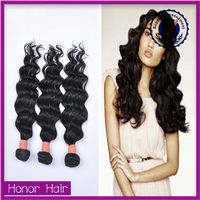 Glitter sagging hot sale double weft deep wave Indian artificial hair