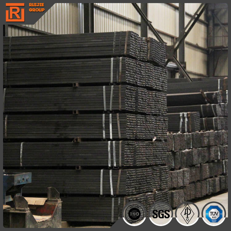 ST 37 fence panels factory rectangular steel pipe, ms mild steel square tubing sizes 40x40