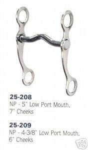 Western Horse Curb Bit Grazing Pony 4 1/2 Inch Tack