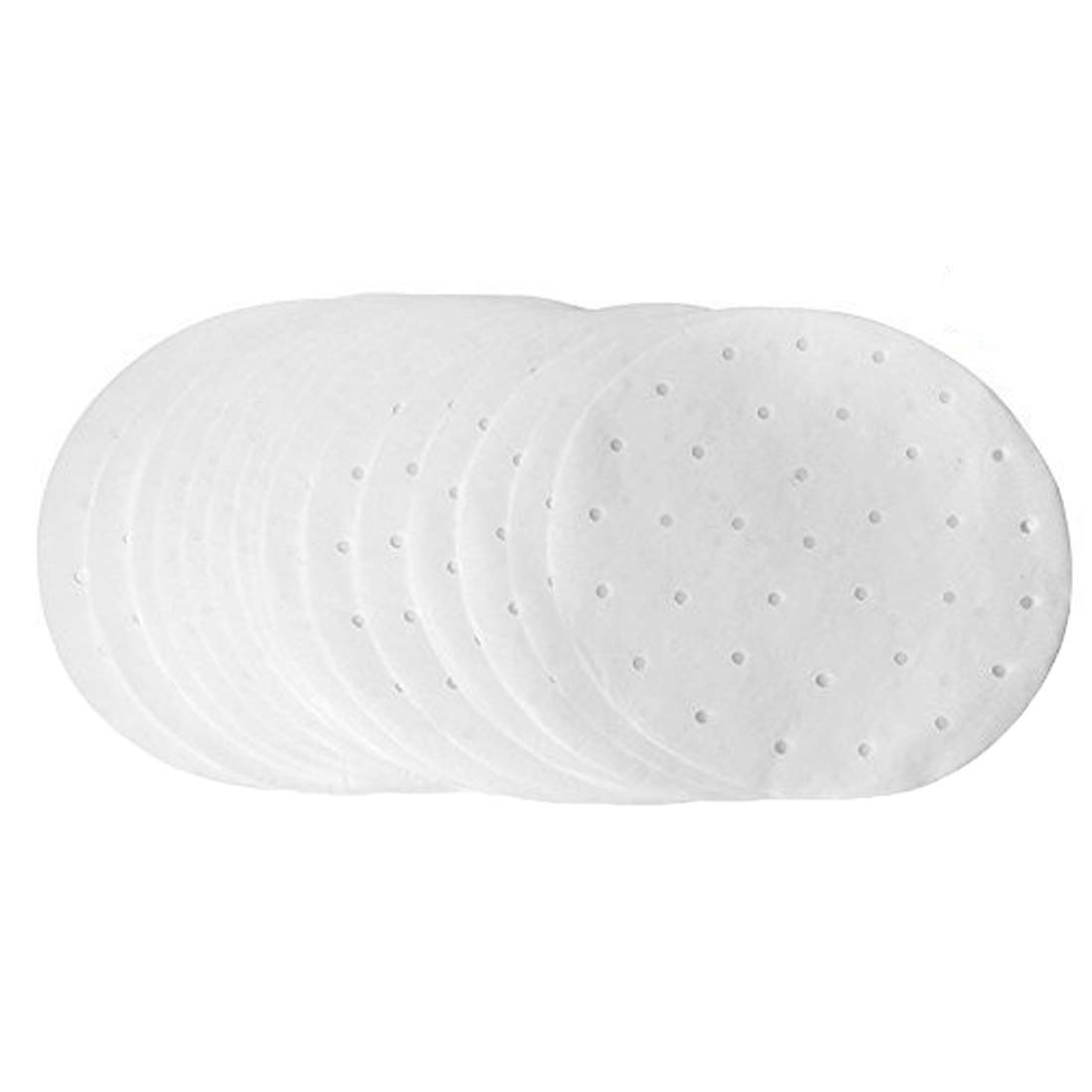 (Set of 200) Perforated Parchment Round Bamboo Steamer Paper Liners,LQQDD 9 Inch Non-stick Steaming Papers for Air Fryer,Cooking, Steaming Basket, Vegetables, Dim Sum,Rice