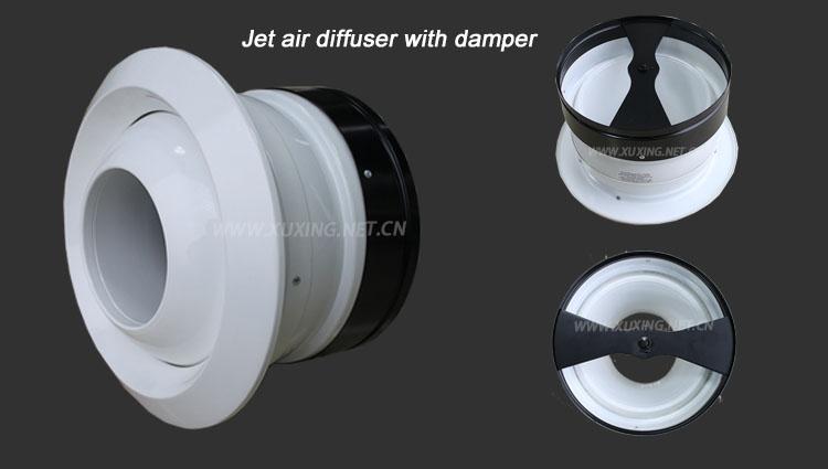 Powder Coating Adjustable Aluminum Air Jet Nozzle Diffuser