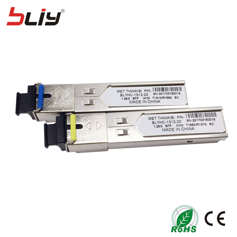 cheap price mini GBIC module sfp gigabit WDM sc connector sfp transceiver