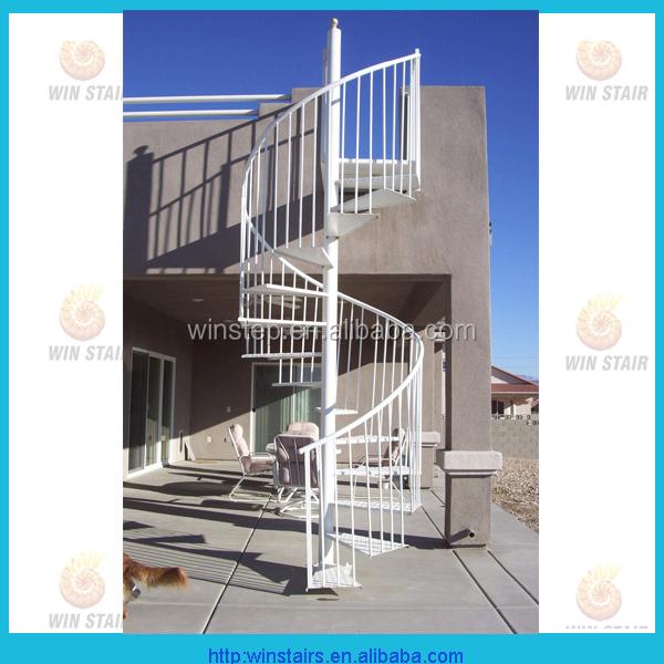 Exterior Stair Iron Spiral Staircase