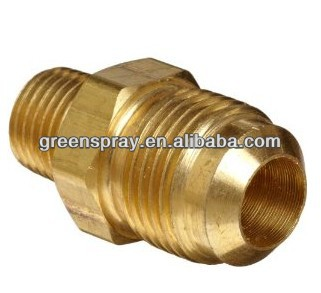 Half-Union Flare x NPT Male Brass Compression Tube Fitting