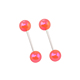 Straight Plastic Ball Barbell Short Cartilage Earring Piercing Barbell
