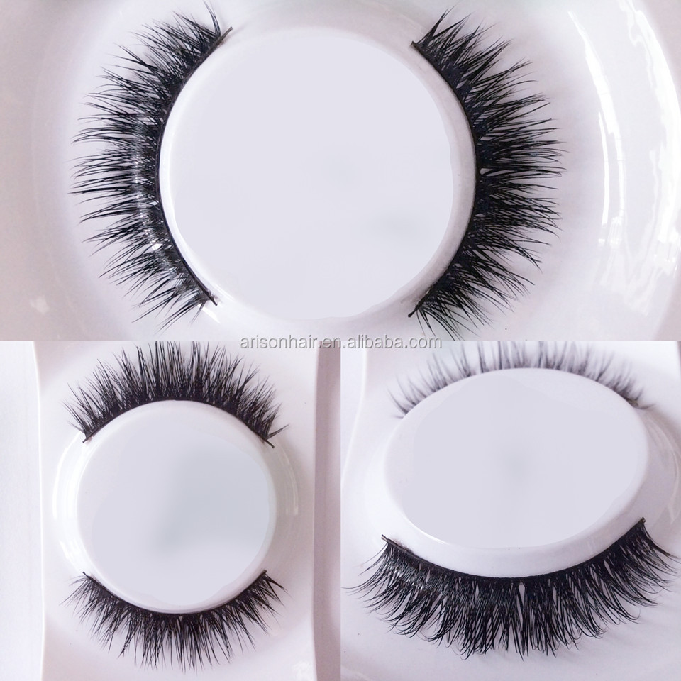 high quality charming soft private label 100% mink eyelashes, strip mink lashes with a small glue